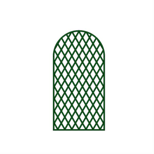 Panneau arrondi maille losange – T25