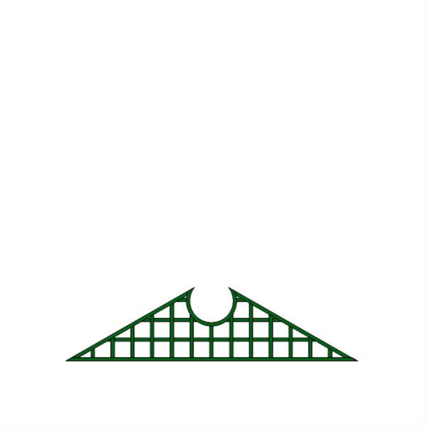 Fronton triangle demi-lune – T32