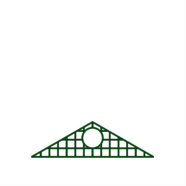 Fronton triangle hublot – T33